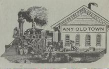 Railroad Depot Salesman Sample Post Card