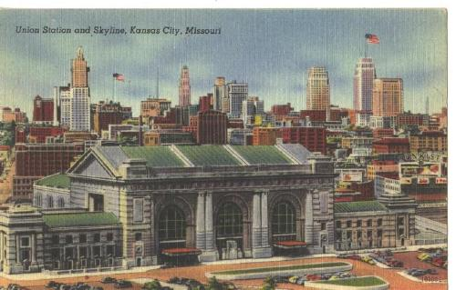 Railroad Union Station Kansas City, Missouri POST CARD