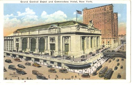 Railroad Grand Central Depot New York  OLD Post Card