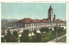 Railroad Union Depot Denver Colorado OLD 1911 Post Card
