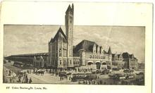 Railroad Depot Union Station St. Louis Missouri OLD Post Card
