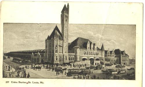 Railroad Depot Union Station St. Louis Missouri OLD Post Card