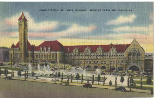 Railroad Union Station St. Louis Missouri OLD Post Card