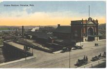 Railroad Depot Union Station Omaha Nebraska Old Post Card