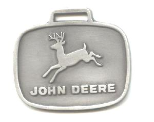 JOHN DEERE WATCH FOB 1956 Logo Fine Pewter