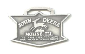 JOHN DEERE WATCH FOB 1936 Logo Fine Pewter