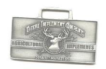 JOHN DEERE WATCH FOB 1889 Logo Fine Pewter