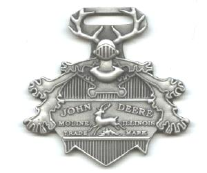 JOHN DEERE WATCH FOB 1891 Logo Fine Pewter
