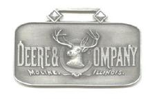 JOHN DEERE WATCH FOB 1885 Logo Fine Pewter