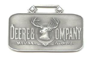 JOHN DEERE WATCH FOB 1885 Logo Fine Pewter