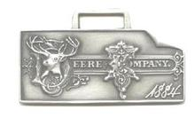 JOHN DEERE WATCH FOB 1884 Logo Fine Pewter