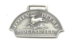 JOHN DEERE WATCH FOB 1876 Logo Fine Pewter