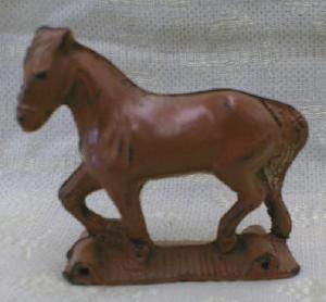 AUBURN Toy Horse Aub-Rubr Old Vintage