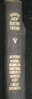 OLD Audels New Electric Vol V Leather Book