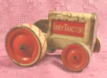 Tin BABY TRACTOR Old Rare 1916 Friction ANIMATE Toy Co