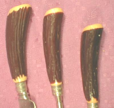 SHEFFIELD Carving Set  3-Piece BONE ANTLER