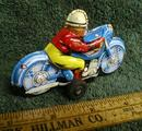 Tin Friction Motorcycle Old 1950's Toy Made in Japan