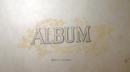 Old Autograph Album w/ Gilt Made in Germany VERY Pretty