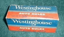 Old WESTINGHOUSE Original Box Auto Bulbs Lamp Headlight Rear Signal