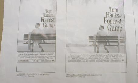 FORREST GUMP Salesman Sample Movie Poster Sheet