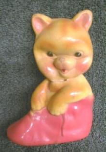 1940's Rubber Bear Squeeze OLD Antique Toy