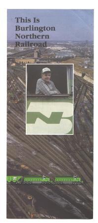 Old Burlington Northern Railroad Brochure Railway RR