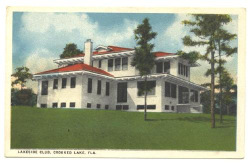 Old Post Card Lakeside Club, Crooked Lake, Florida