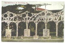 Old Post Card The Shell Fence, St. Petersburg, Florida