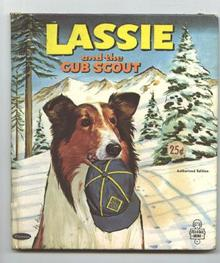 Old Lassie Childrens Book 1966 Lassie & The Cub Scout Whitman