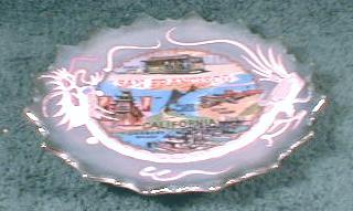 Old MORIAGE Dragonware San Francisco CA Souvenir Plate