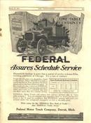 Old 1917 FEDERAL Trucks ORIGINAL Adv. Harpers Weekly RR