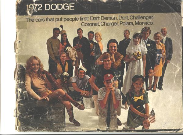 2 ORIGINAL Dodge Charger Sales Brochures 1972-73