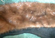 Real Mink Collar - Brown Fur - Vintage - Nice!