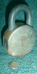 Old HURD Lock -  E.R. Hurd Padlock Pad Lock Large Detroit MI