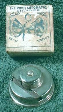 ROSE Automatic Scissors Grinder OLD! 1904 - ORIGINAL Box