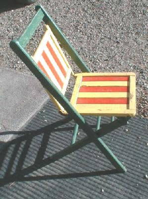 Wood Folding Chair Painted COLORFUL - Vintage