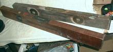 Old STANLEY Wood Levels (2) Wooden Carpenter's  1896