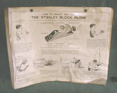 2 Old 1928 STANLEY Block Plane How to Use Adjust CHARTS