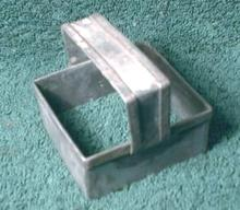 Tin SQUARE Cookie Biscuit Cutter Handle UNIQUE - VERY Old!