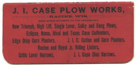 J.I. CASE Plow Works Old 1910 Ledger Book Montevideo MN
