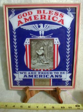 Patriotic Adv Picture Clara City MN God Bless America