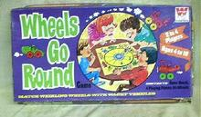 Old Vintage Game Wheels Go Round Board Whitman 1970
