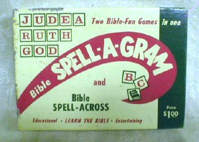 Old BIBLE Spell-A-Gram Educational Game Children Adults