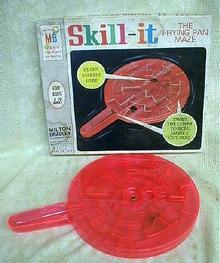 Old Skill It Frying Pan Maze Game Milton Bradley