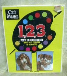 PUPPIES Paint by Number Set Craft Master General Mills