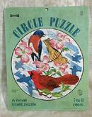 Inlaid Circle Puzzle SAALFIELD Birds Spring - Vintage