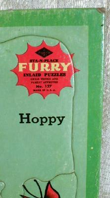 FURRY Inlaid Puzzle Hoppy Kangaroo Built Rite - OLD