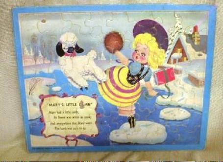Old Vintage Puzzle Mary Had a Little Lamb Minnesota