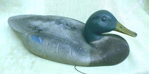 Old Duck Decoy TUFFY DUX Mallard Rubber
