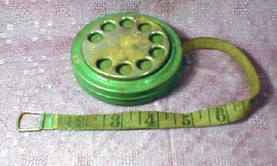 Old DIAL Tape Measure 50 Feet Looks like Telephone